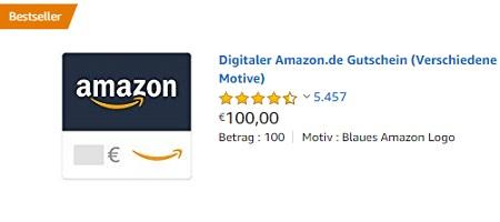 100 Euro Amazon Gutschein